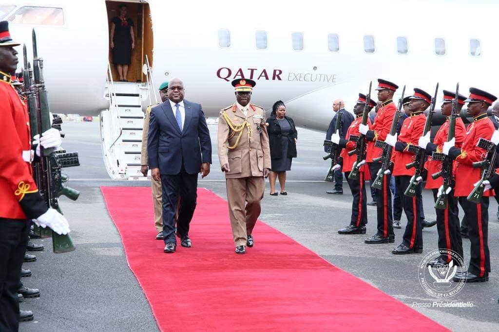 Qatar Airways transporte Félix Tshisekedi